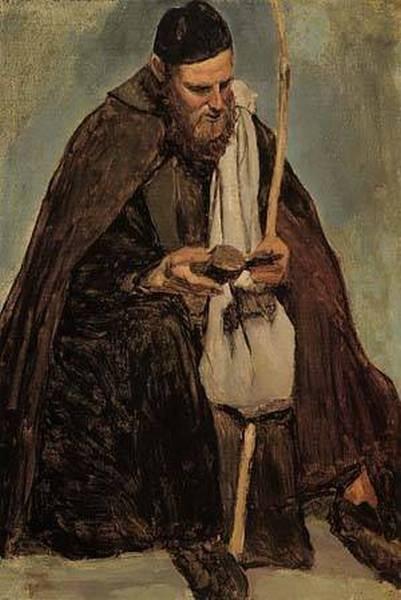 Italian Monk Reading 1826 1828